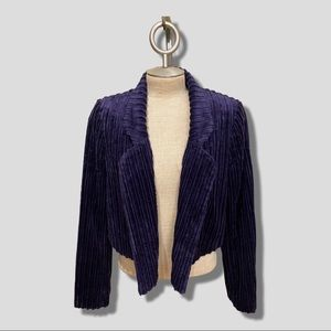 NWT Anthropologie purple corduroy cropped blazer